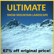 Snowy Mountain Terrain (fotorealistisk) 3d model