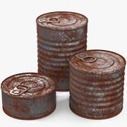 Latas De Estaño Oxidado modelo 3d