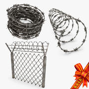 Barbed Wire Collection 3d model