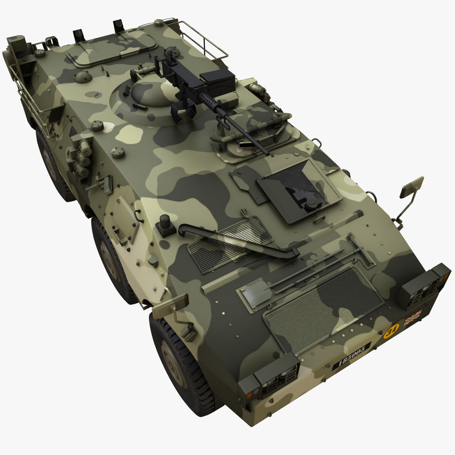 Puma 6x6 Armored Fighting Vehicle royalty-free 3d model - Preview no. 8