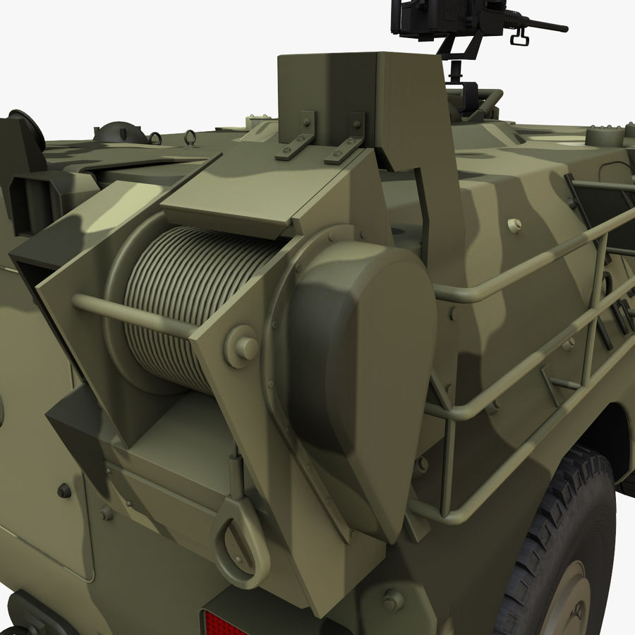 Puma 6x6 Armored Fighting Vehicle royalty-free 3d model - Preview no. 17