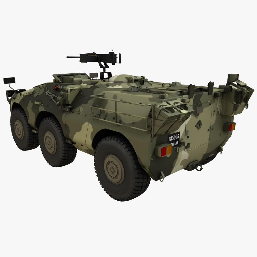 Puma 6x6 Armored Fighting Vehicle royalty-free 3d model - Preview no. 5