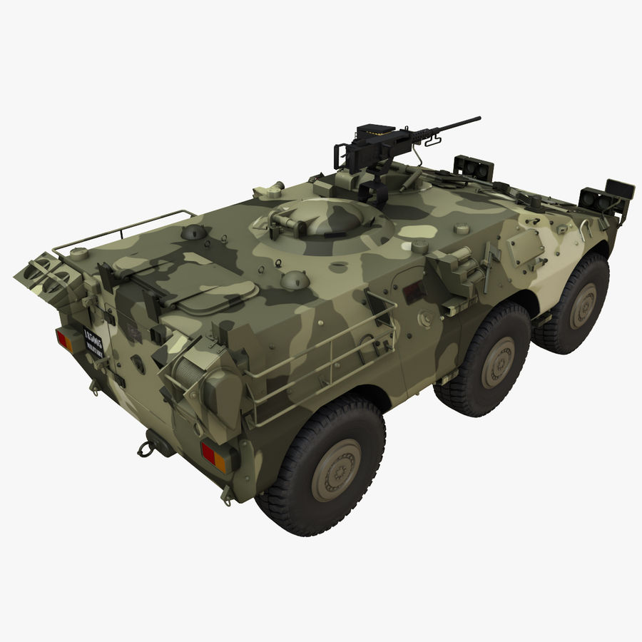 Puma 6x6 Armored Fighting Vehicle royalty-free 3d model - Preview no. 7