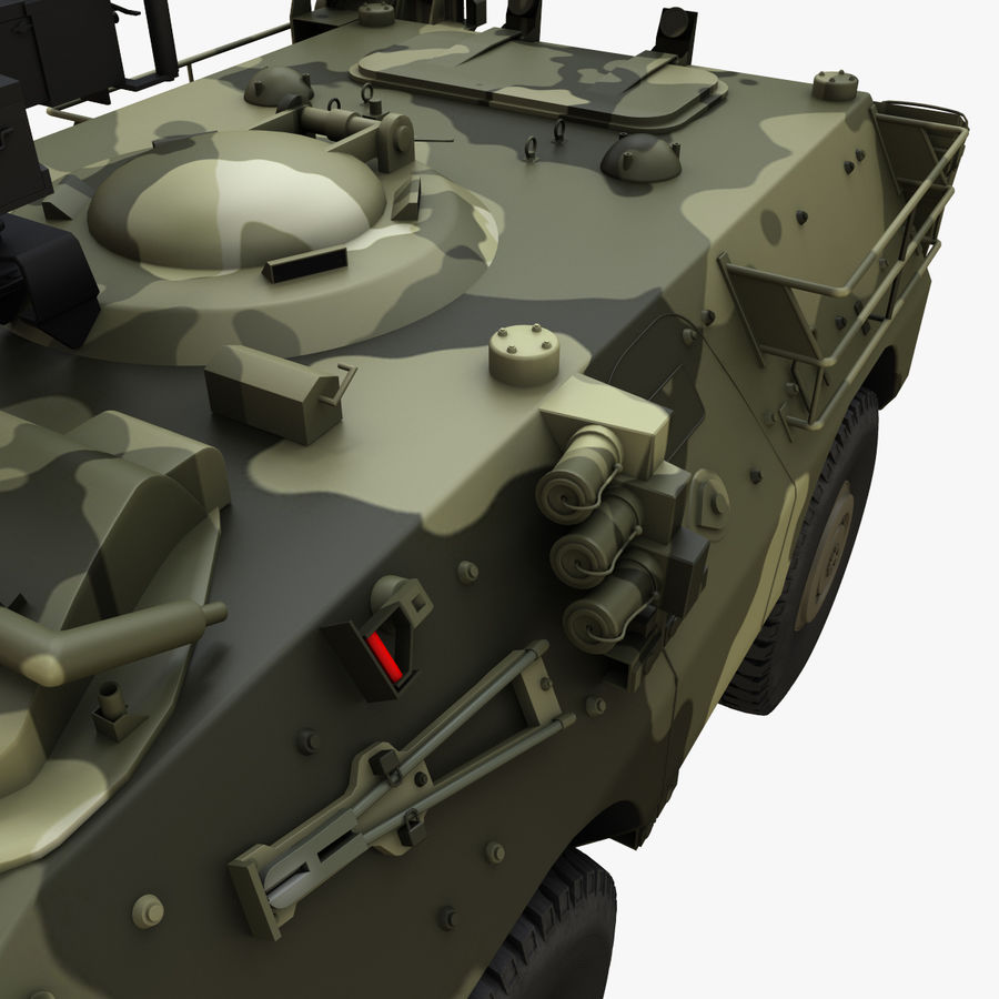 Puma 6x6 Armored Fighting Vehicle royalty-free 3d model - Preview no. 15
