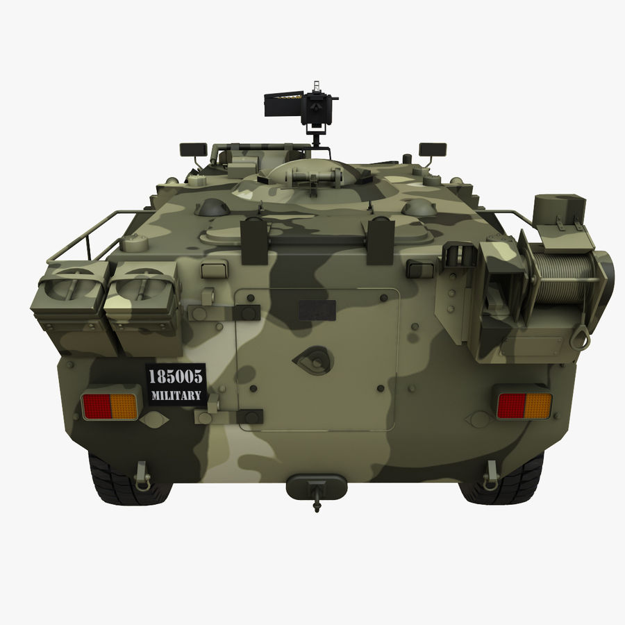 Puma 6x6 Armored Fighting Vehicle royalty-free 3d model - Preview no. 6