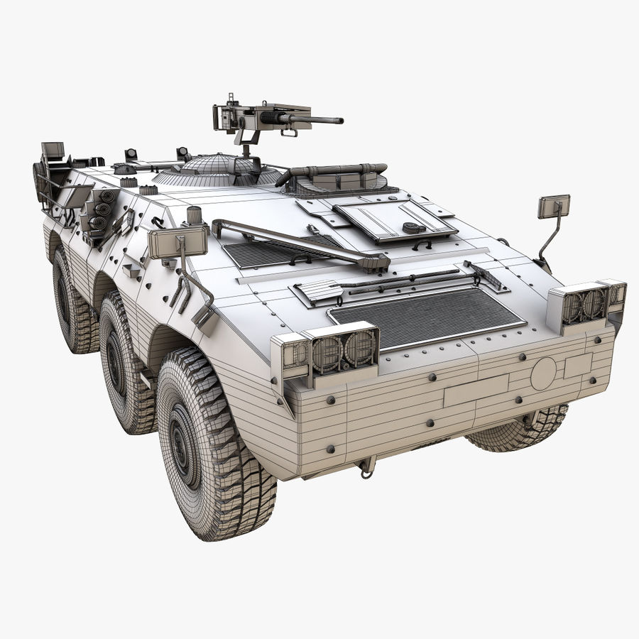 Puma 6x6 Armored Fighting Vehicle royalty-free 3d model - Preview no. 19