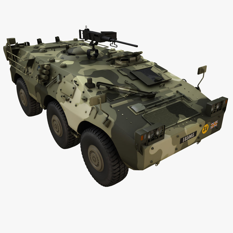 Puma 6x6 Armored Fighting Vehicle royalty-free 3d model - Preview no. 1