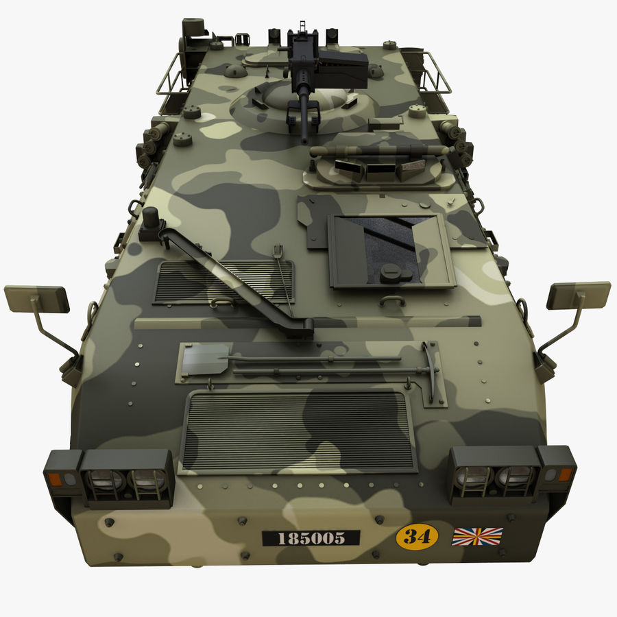 Puma 6x6 Armored Fighting Vehicle royalty-free 3d model - Preview no. 10