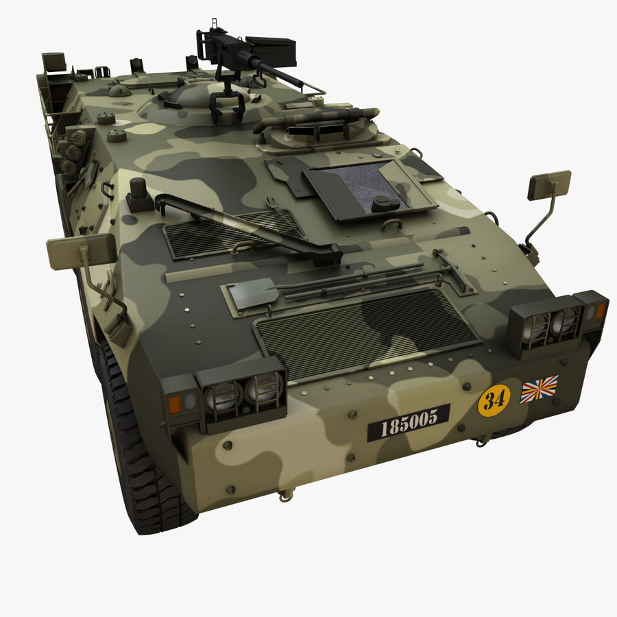 Puma 6x6 Armored Fighting Vehicle royalty-free 3d model - Preview no. 2