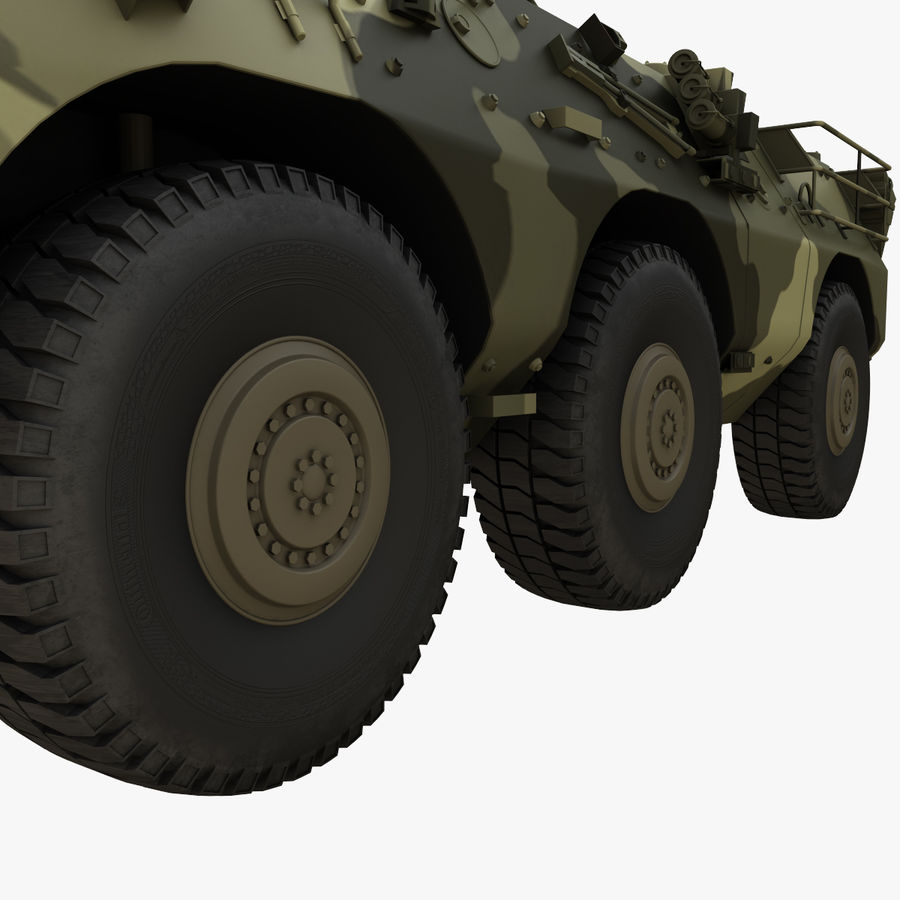 Puma 6x6 Armored Fighting Vehicle royalty-free 3d model - Preview no. 11