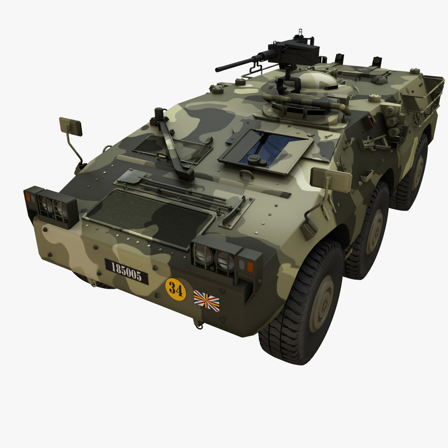 Puma 6x6 Armored Fighting Vehicle royalty-free 3d model - Preview no. 3