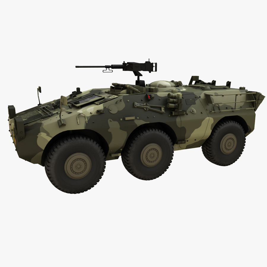 Puma 6x6 Armored Fighting Vehicle royalty-free 3d model - Preview no. 4