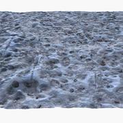 凍結した冬の地面の低ポリ表面 3d model