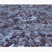 凍った冬の地面Lowpolyサーフェス02 3d model