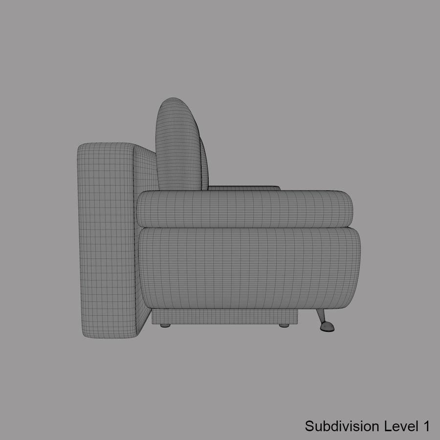 Sofá-cama Riviera Couro royalty-free 3d model - Preview no. 21