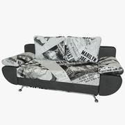 Sofá-cama Riviera Couro 3d model
