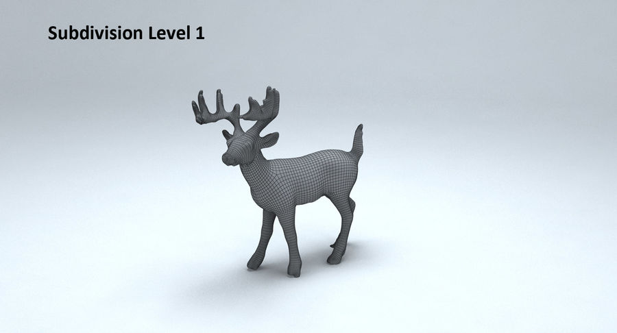 Cerf royalty-free 3d model - Preview no. 13
