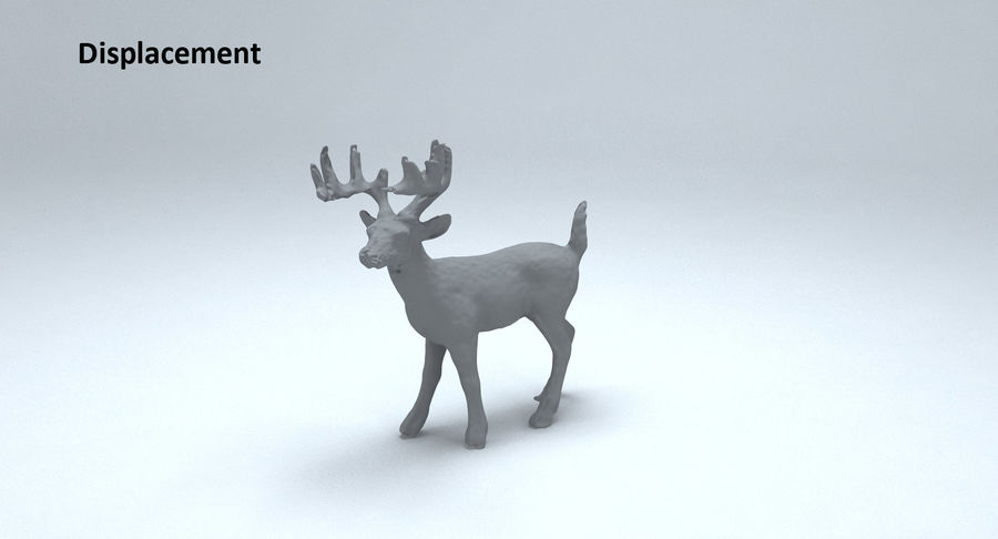 Cerf royalty-free 3d model - Preview no. 14