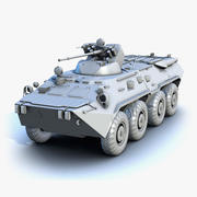 BTR-80A Low-Poly (UVs Mapped) 3d model