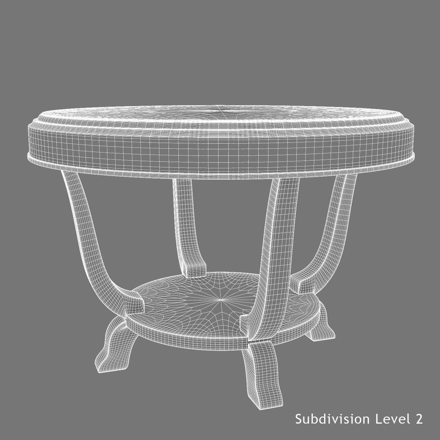 Le centre de la table royalty-free 3d model - Preview no. 11