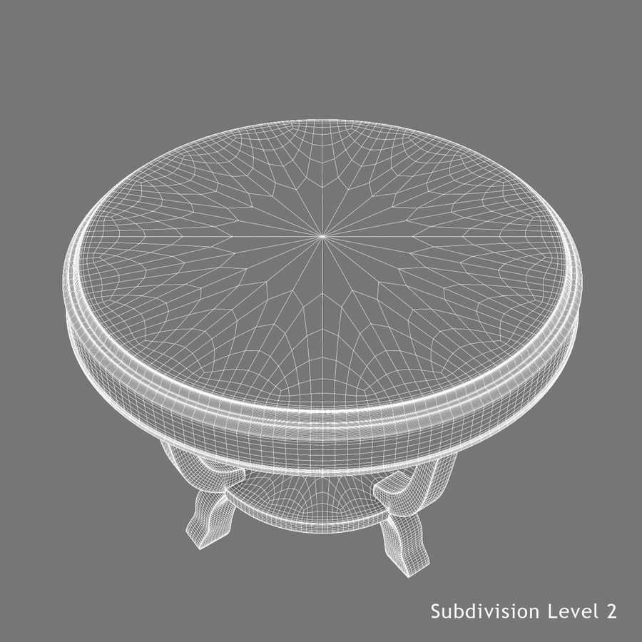 Środkowy stół royalty-free 3d model - Preview no. 20