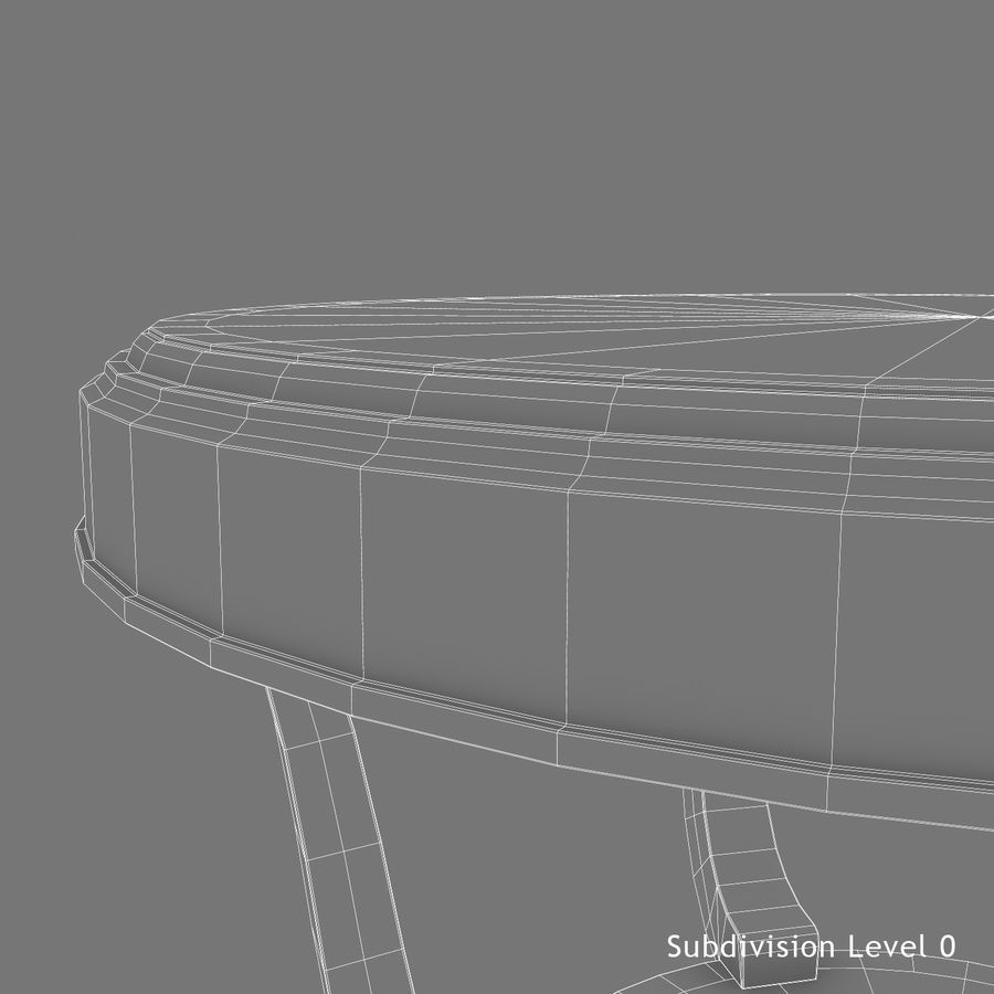 Środkowy stół royalty-free 3d model - Preview no. 15
