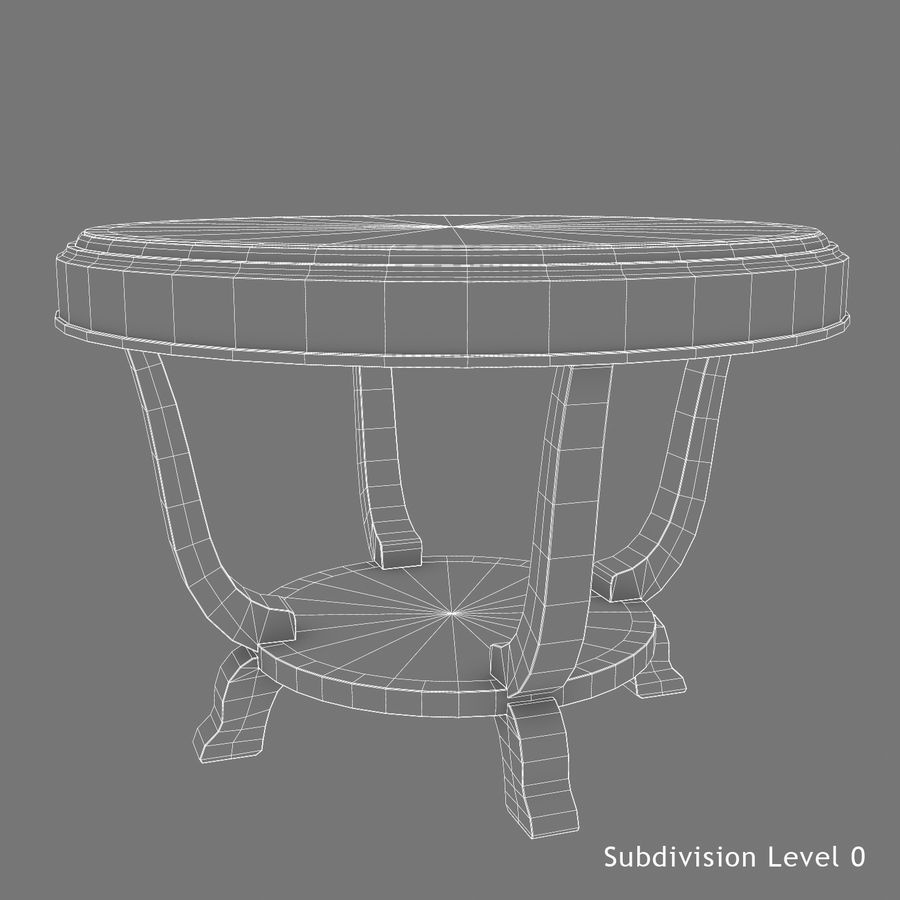 Środkowy stół royalty-free 3d model - Preview no. 9