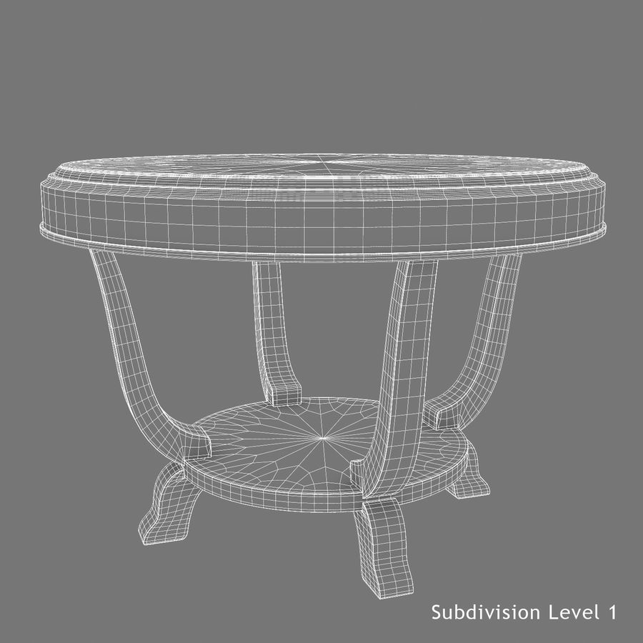 Le centre de la table royalty-free 3d model - Preview no. 10