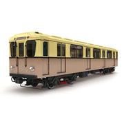 Tunnelbana retro tåg 3d model
