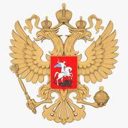 Escudo de armas ruso modelo 3d
