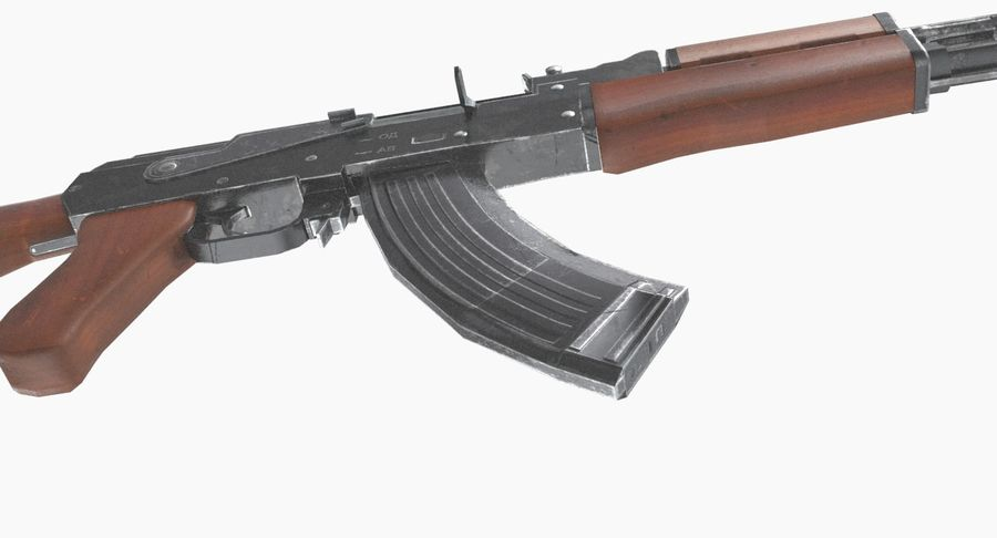 AK 47 royalty-free 3d model - Preview no. 16