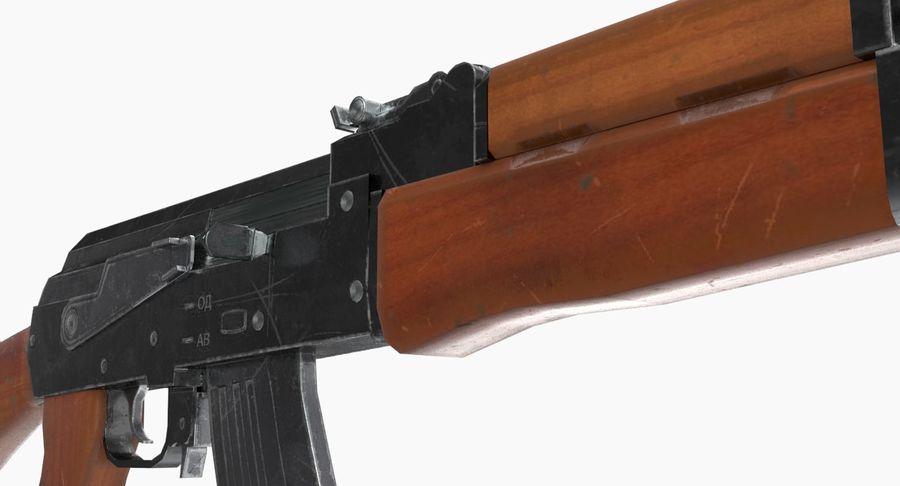 AK 47 royalty-free 3d model - Preview no. 17