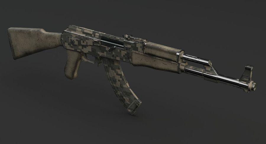 AK 47 royalty-free 3d model - Preview no. 8