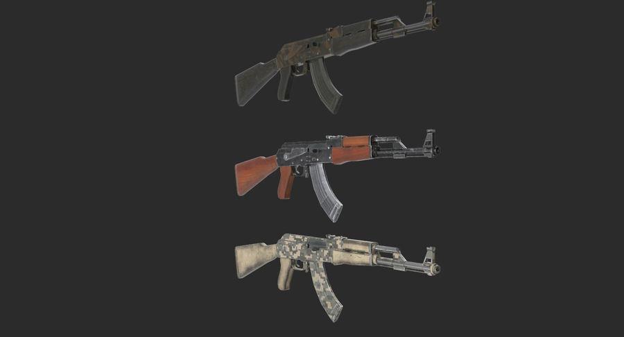 AK 47 royalty-free 3d model - Preview no. 5
