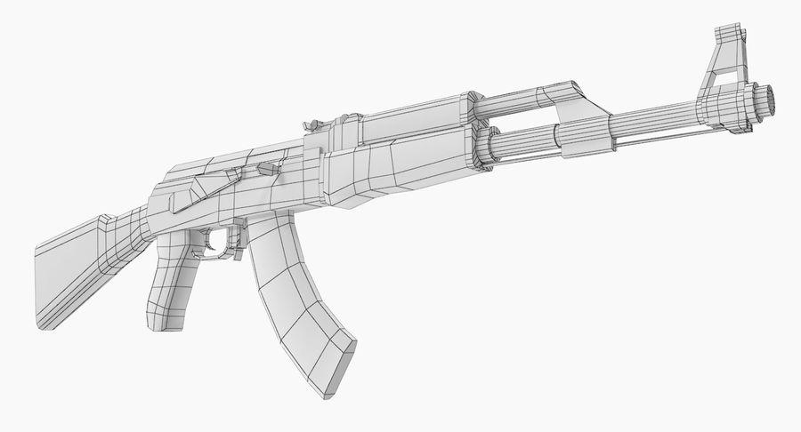 AK 47 royalty-free 3d model - Preview no. 19