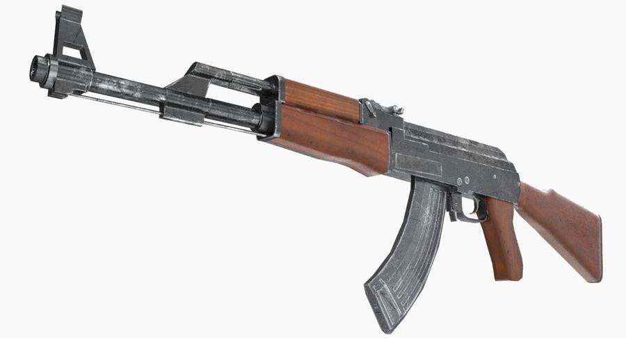 AK 47 royalty-free 3d model - Preview no. 14