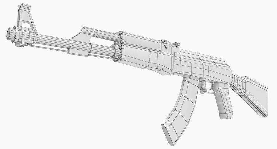 AK 47 royalty-free 3d model - Preview no. 18