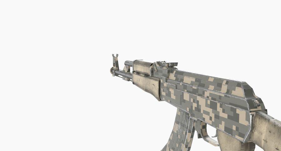 AK 47 royalty-free 3d model - Preview no. 12