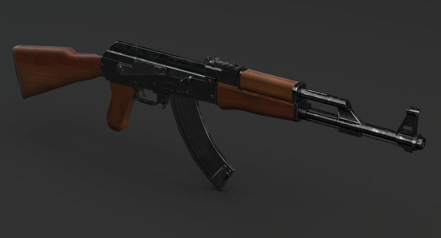 AK 47 royalty-free 3d model - Preview no. 7