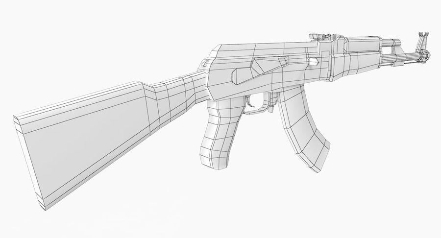 AK 47 royalty-free 3d model - Preview no. 20