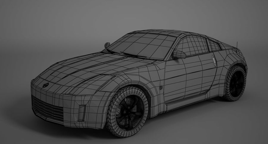 Nissan-350z royalty-free 3d model - Preview no. 8