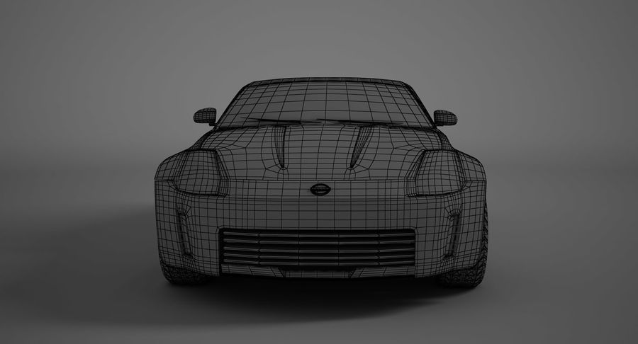 Nissan-350z royalty-free 3d model - Preview no. 14