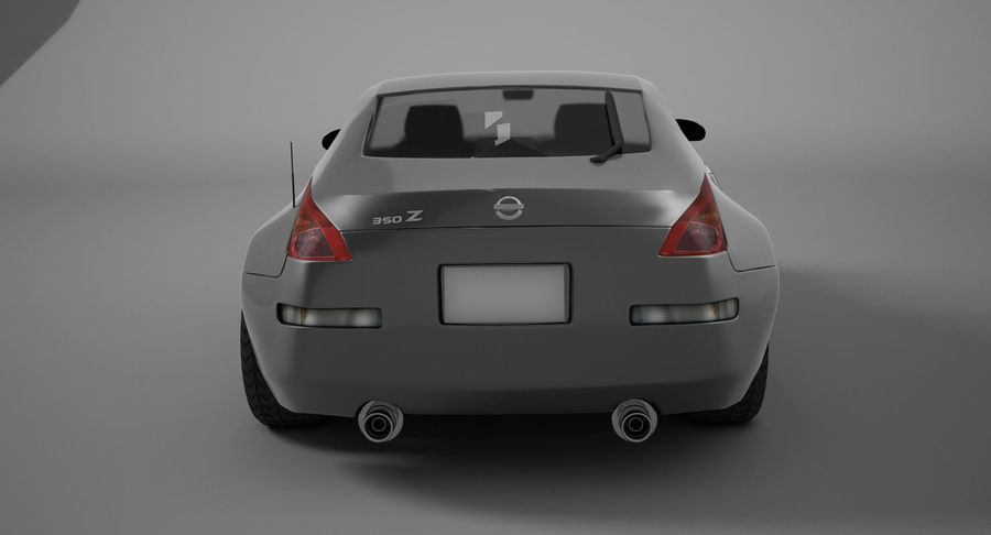 Nissan-350z royalty-free 3d model - Preview no. 6