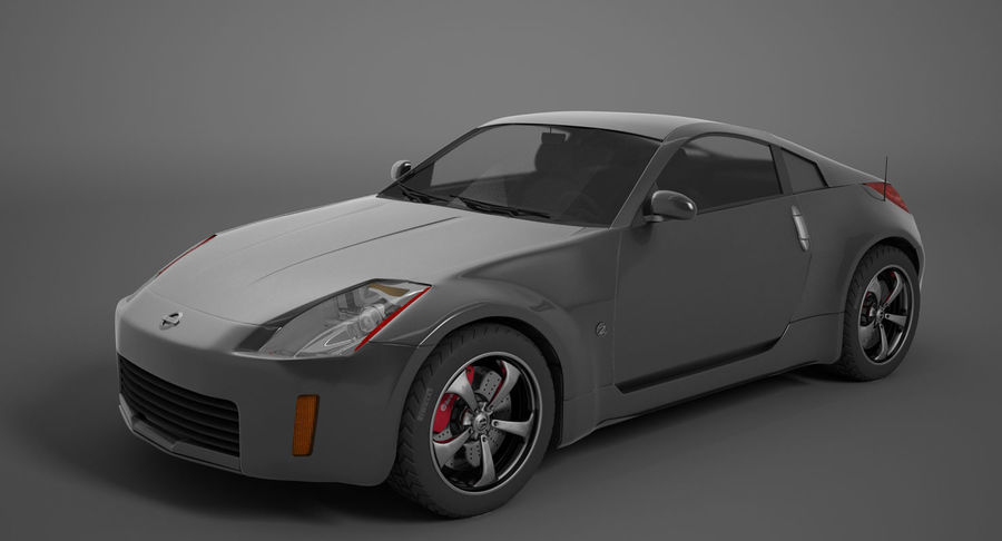Nissan-350z royalty-free 3d model - Preview no. 3