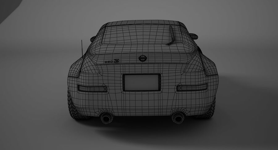 Nissan-350z royalty-free 3d model - Preview no. 13