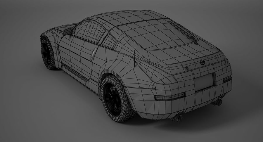 Nissan-350z royalty-free 3d model - Preview no. 10