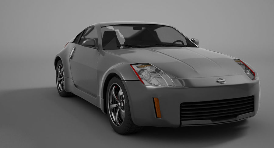Nissan-350z royalty-free 3d model - Preview no. 2