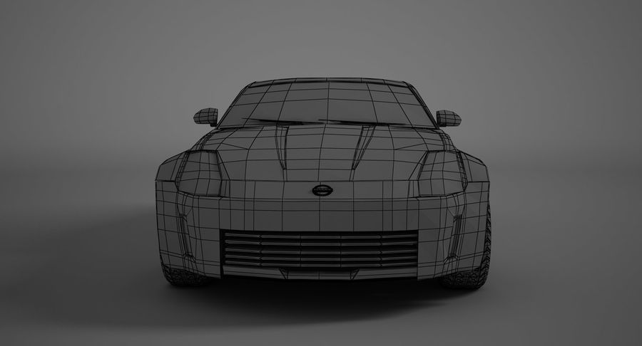 Nissan-350z royalty-free 3d model - Preview no. 11