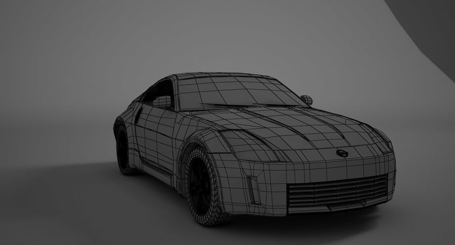 Nissan-350z royalty-free 3d model - Preview no. 7