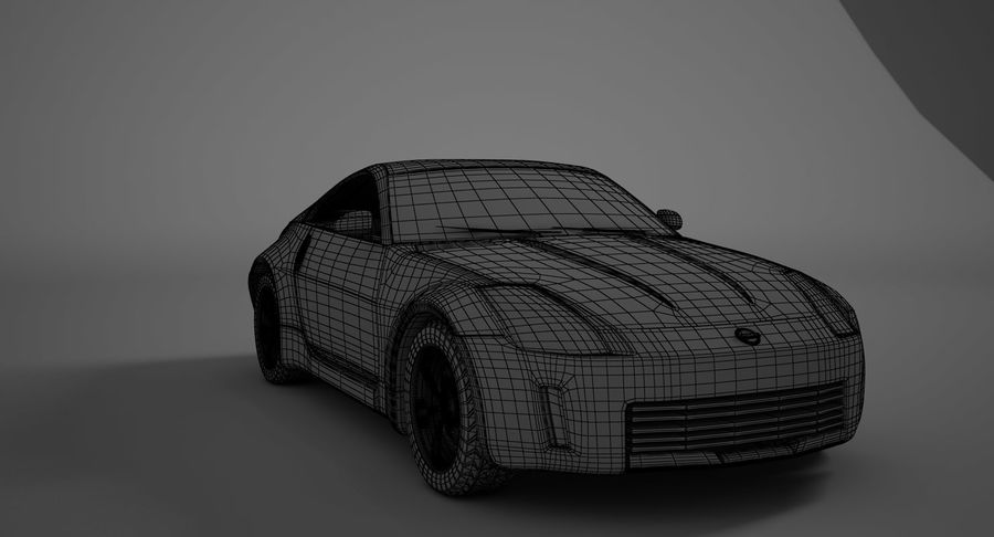 Nissan-350z royalty-free 3d model - Preview no. 15
